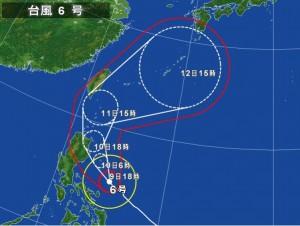 台風6号気象庁20150509