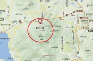 箱根山付近