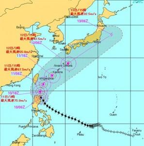 台風6号20150510