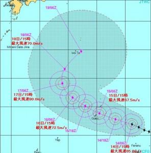 台風7号20150514